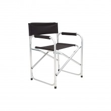 Blackspur Aluminium Directors Chair, Black