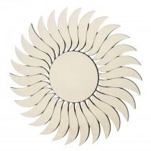 Sunburst Round Mirror, Silver