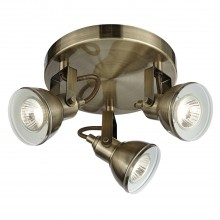 Focus Triple Spotlight Antique Brass