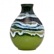 Poole Pottery Maya Bud Vase 12cm, Green/Blue