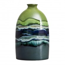 Poole Pottery Maya Medium Oval Case 23cm, Green/Blue