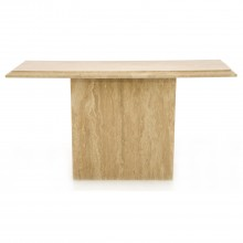 Caterina Console Table, Light Travertine