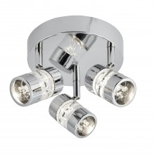 Bubbles Led Triple Spotlight, Chrome