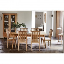 Ercol Teramo Medium Table & Six Chairs Dining Set