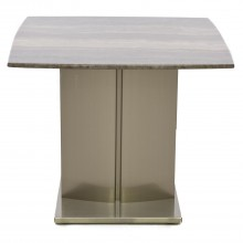 Wave End Table, Beige