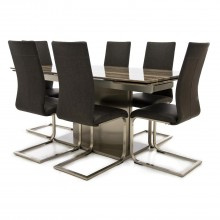 Wave Dining Table and Six Chairs