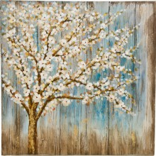 Winter Blossom Oil Painting