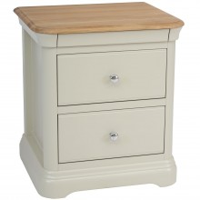 Cherbourg Large 2 Drawer Bedside Table