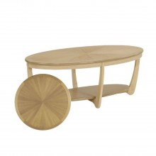 Nathan Shades Oak Oval Coffee Table