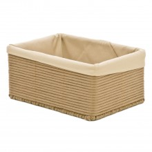 Rectangular Cotton Basket Large, Taupe