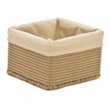 Square Cotton Basket Medium, Taupe