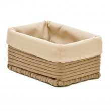 Rectangular Cotton Basket Small, Taupe