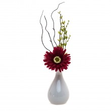 Gerbera Arrangement In Pot, Red