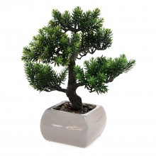 Artificial Bonsai In Pot, Green