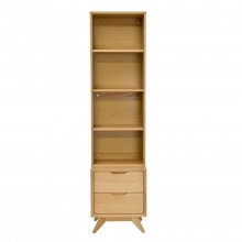 Garda Narrow Storage Top&base Oak Cabinet
