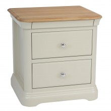 Cherbourg Large Two Drawer Bedside Table