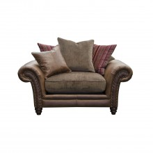 Alexander & James Hudson Snuggler Fabric Love Seat