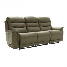 La-Z-Boy Sheridan Three Seater Manual Recliner Leather Sofa