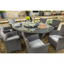 Eight Seater Oblique Outdoor Dining Set