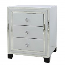 Casa Blanco 3 Drawer Bedside Chest