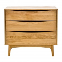 Jersey Three Drawer Wide Low Chest