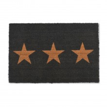 Garden Trading Large Doormat 3 Stars, Charcoal