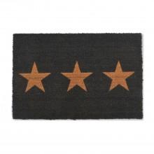 Garden Trading Large Doormat 3 Stars, Charcoal