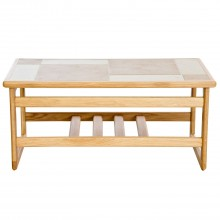 Amber Tile Top Small Coffee Table