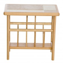Amber Tile Top Magazine Table