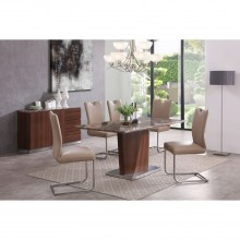Rossini Table & Six Chairs Dining Set