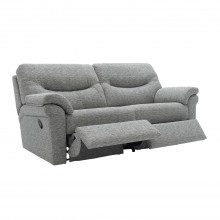 G Plan Washington Three Steater Manual Recliner Fabric Sofa