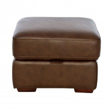 Artemis Storage Leather Footstool