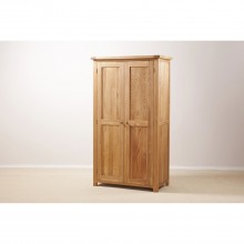 Seville Full Length 2 Door Wardrobe, Oak