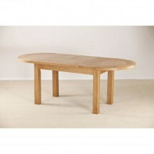 Seville Large D End Extending Dining Table, Oak