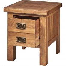 Seville One Drawer Lamp Table, Oak