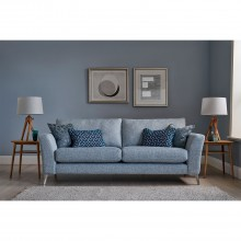 Casa Flora 3 Seater Sofa Chrome Foot 3 Seat