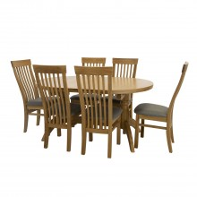 Marseille Oval Extending Table & 6 Chairs Dining Set