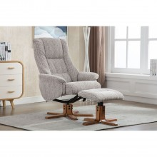 Sinatra Fabric Chair & Footstool, Wheat
