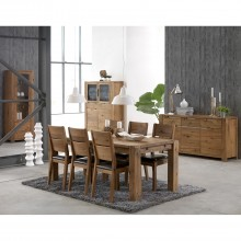 Canberra Table & 4 Chairs Dining Set