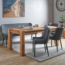 Canberra Table, Bench & 3 Chairs Dining Set