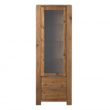 Canberra Tower Display Cabinet, Left Hand