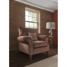 Duresta Beresford High Back Fabric Chair, Camden Cinnamon