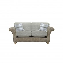 Alexander & James Lawrence Two Seater Standard Back Fabric Sofa, Brown