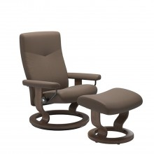 Stressless Dover Chair And Footstool, Medium,  Batick