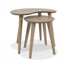 Ottawa Nest Of Lamp Tables, Scandi Oak