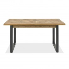Finsbury Extending Dining Table, Rustic Oak & Peppercorn