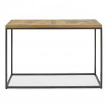 Finsbury Console Table, Rustic Oak & Peppercorn