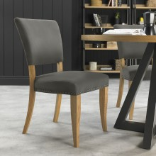 Finsbury Upholstered Chair, Dark Grey