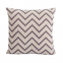 Bramblecrest Outdoor Cushion, Chevron Cocoa