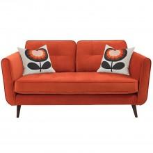 Orla Kiely Ivy Small Fabric Sofa, Glyde Tomato